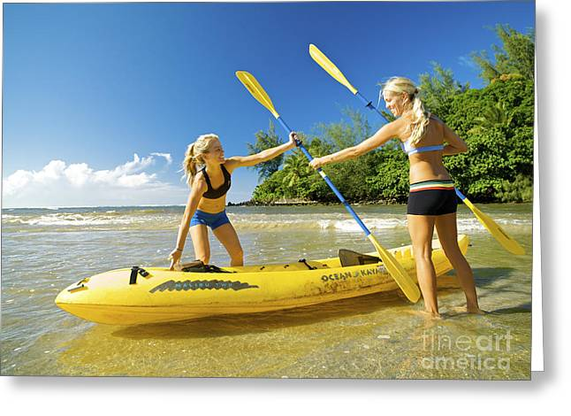 Women Kayakers Greeting Card