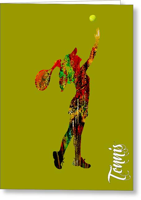 Womens Tennis Collection Greeting Card by Marvin Blaine