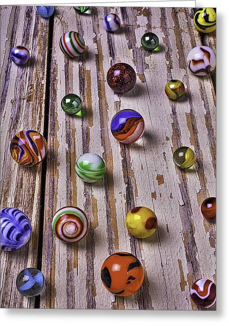 Wonderful Marbles Greeting Card by Garry Gay