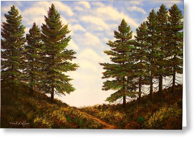 Pacific Crest Trail Greeting Cards - Wooded Path Greeting Card by Frank Wilson