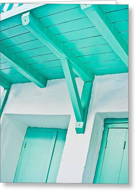 Wooden Balcony Greeting Card by Tom Gowanlock