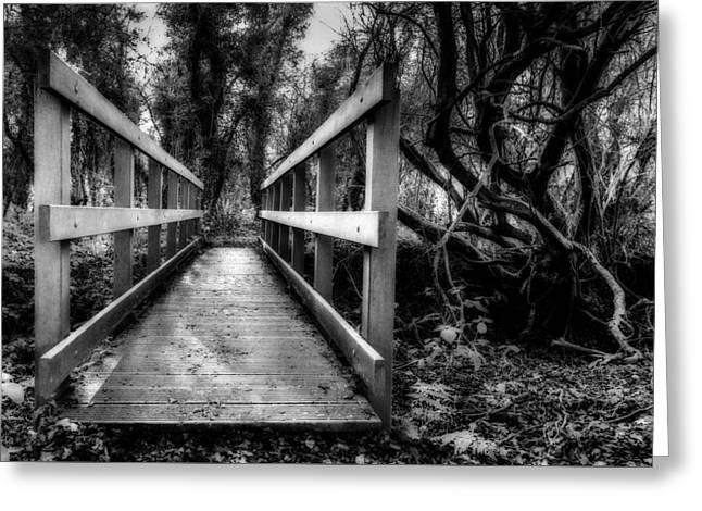 Wooden Bridge Greeting Card