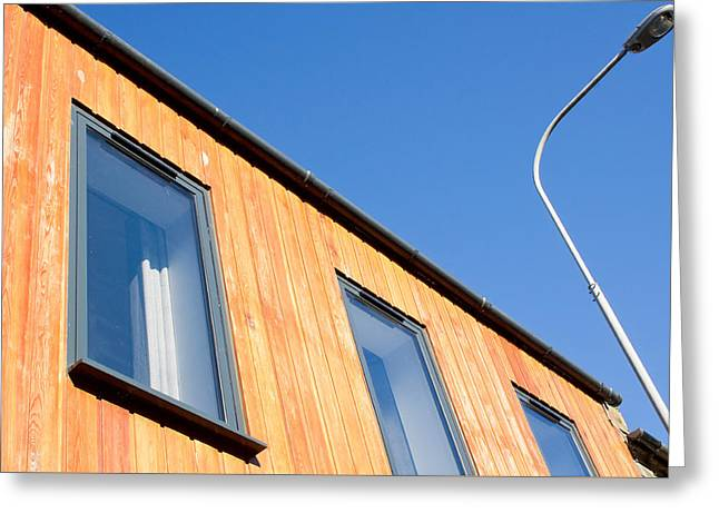 Wooden Building Greeting Card by Tom Gowanlock