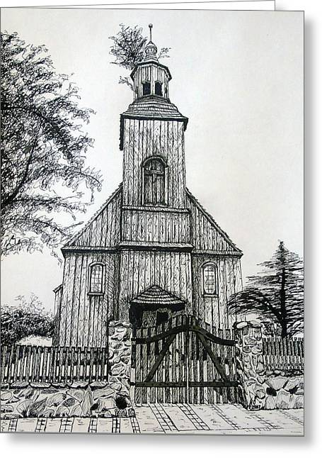 Wooden Church 2 Greeting Card