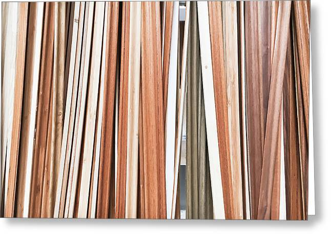 Wooden Floor Trims Greeting Card