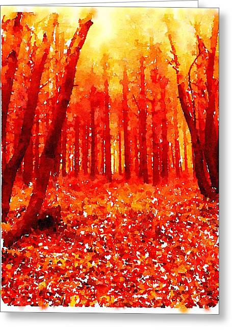 Woods By John Springfield Greeting Card by Esoterica Art Agency