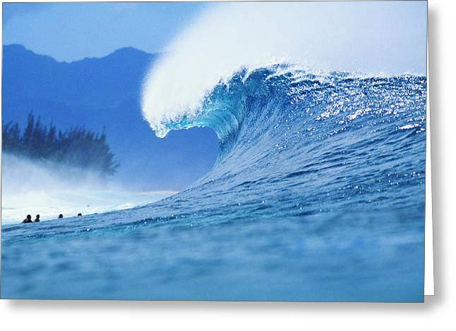 World Famous Pipeline Greeting Card by Vince Cavataio - Printscapes