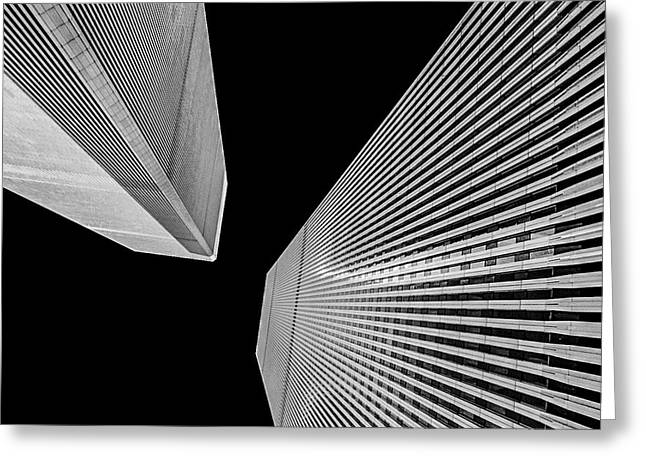 World Trade Center 2 Greeting Card by Jeff Watts
