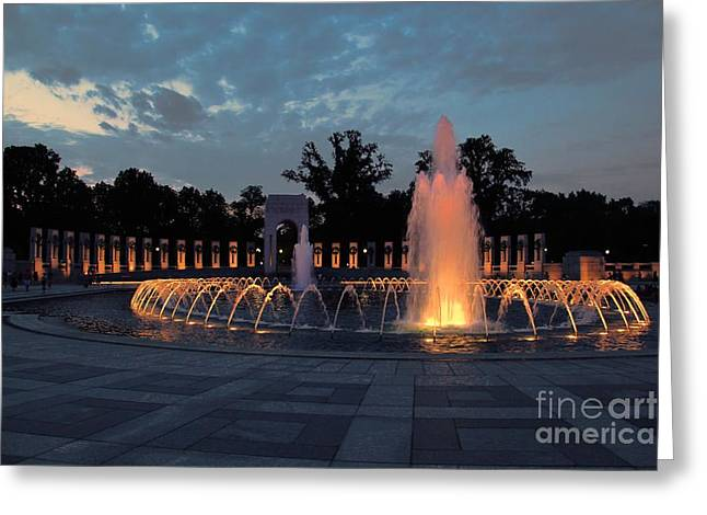 World War II Memorial Fountain Greeting Card