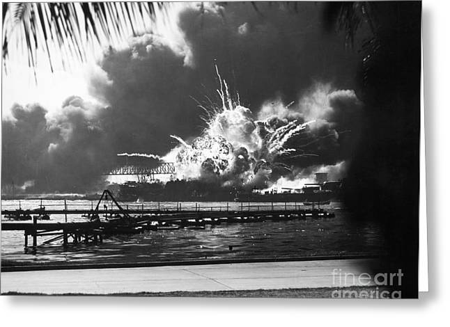 World War II: Pearl Harbor Greeting Card by Granger