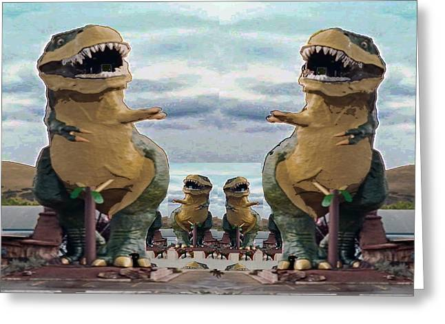 Worlds Largest Dinosaur Tyrannosaurus Rex Statue Drumheller Alberta Canada Greeting Card