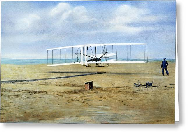 Wright Brothers, 1903 Greeting Card by Granger