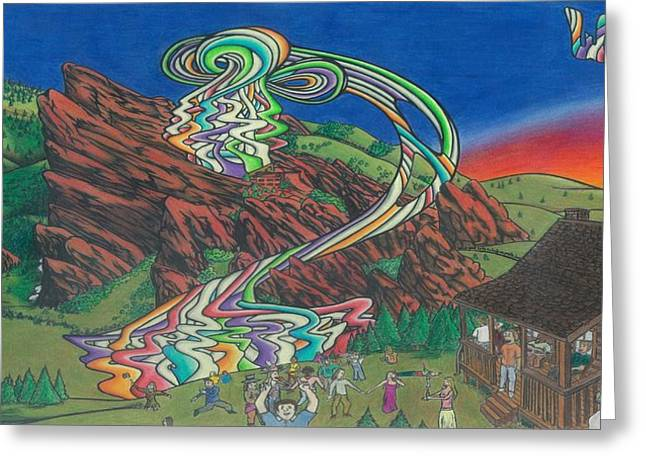 Music Time Drawings Greeting Cards - WSP on the Rocks Greeting Card by Steve Weber
