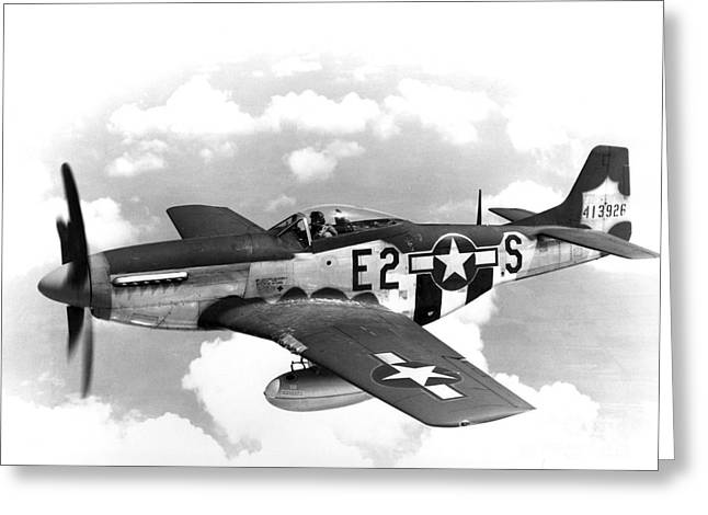 Wwii, North American P-51 Mustang, 1940s Greeting Card