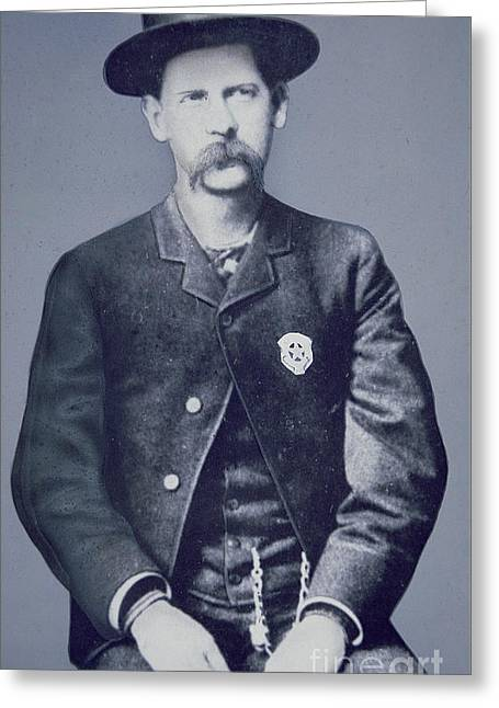 Wyatt Earp Greeting Card by American School