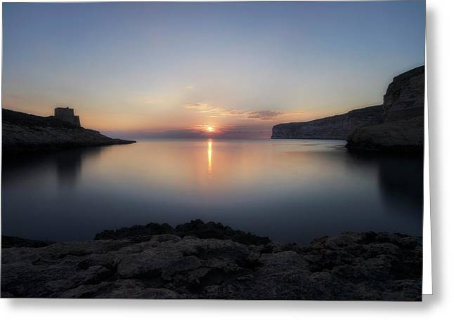 Xlendi Bay - Gozo Greeting Card by Joana Kruse