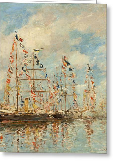 Yacht Basin At Trouville - Deauville Greeting Card by Mountain Dreams