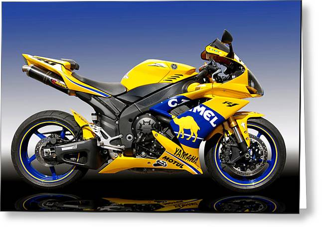 Yamaha R1 Greeting Card