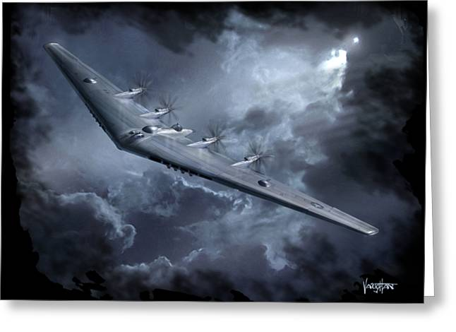 Yb-35 Flying Wing Greeting Card