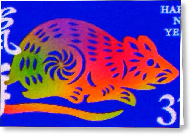 Year Of The Rat Greeting Card
