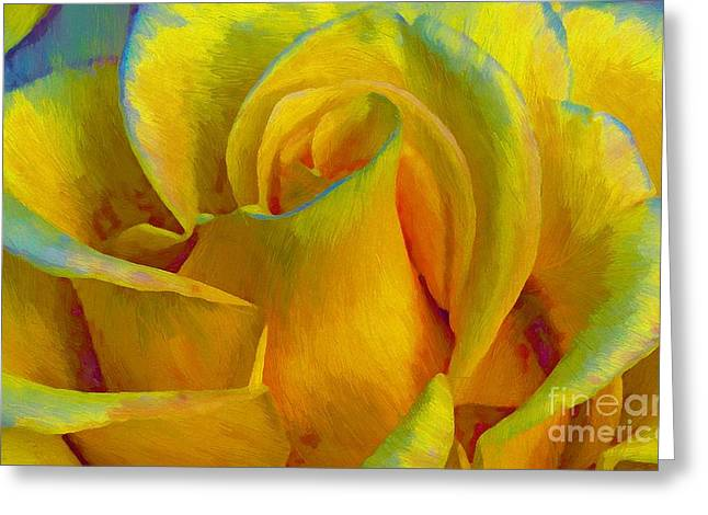 Yellow Rose Greeting Card by John  Kolenberg
