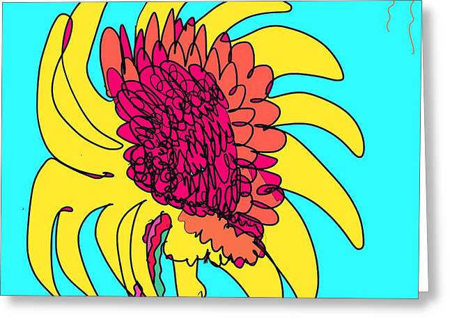 Yes. This Is A Flower, Child Greeting Card