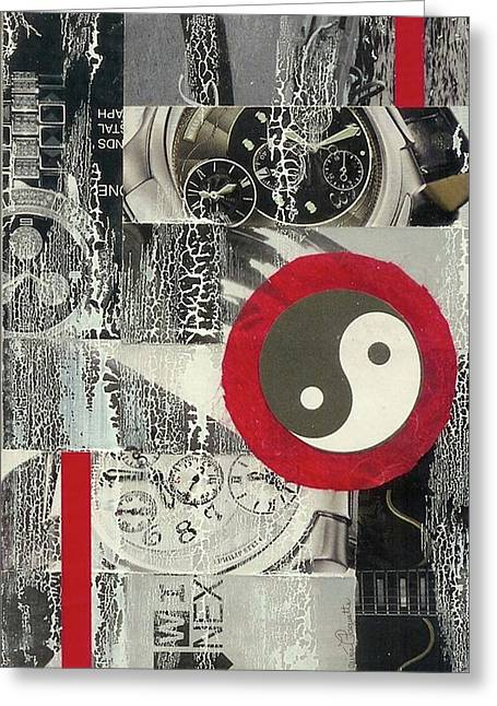 Ying Yang Greeting Card by Desiree Paquette