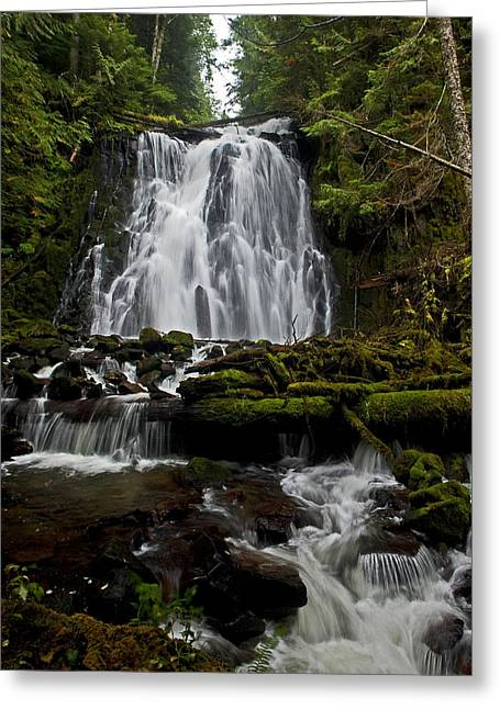 Yocum Falls Oregon Greeting Card