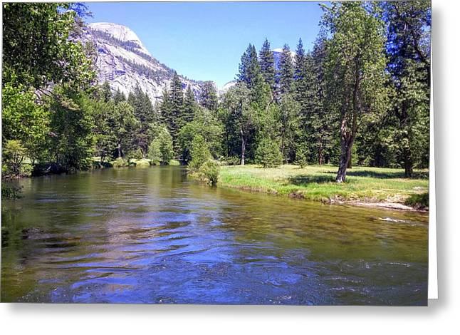 Yosemite Lazy River Greeting Card