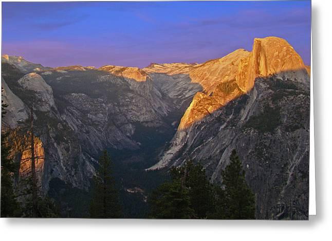 Yosemite Summer Sunset 2012 Greeting Card
