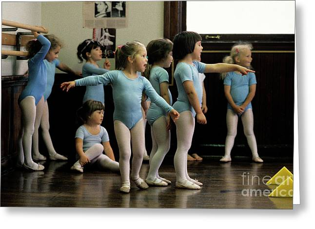 Young Ballet Dancers  Greeting Card