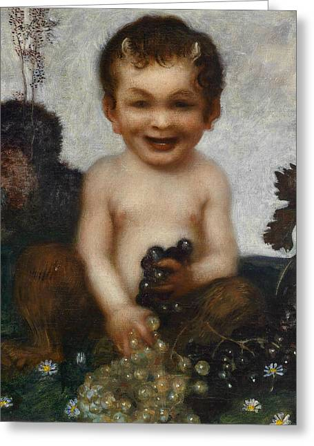 Young Faun Greeting Card