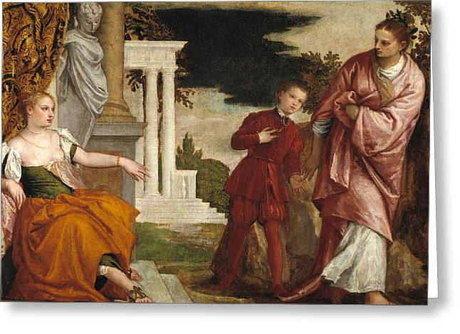 Young Man Between Vice And Virtue Greeting Card by Paolo Veronese