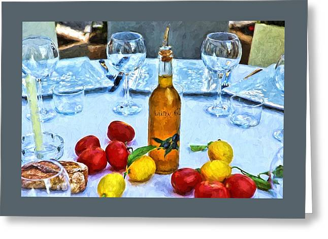 Your Table Is Ready Greeting Card by Allen Beatty
