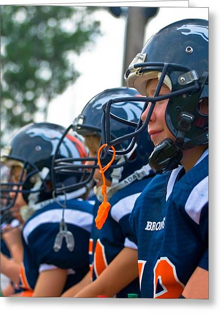 Youth Football Greeting Card