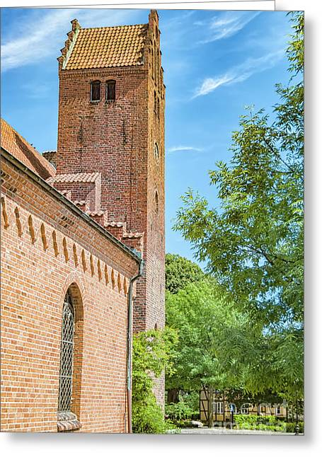 Greeting Card featuring the photograph Ystad Monastery In Sweden by Antony McAulay