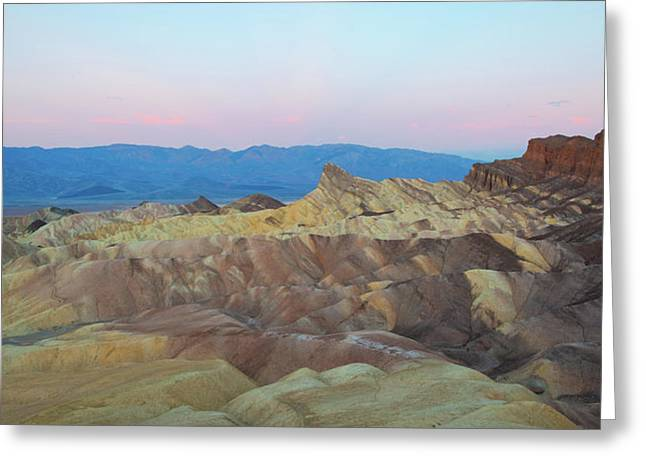 Greeting Card featuring the photograph Zabriskie Point by Catherine Lau