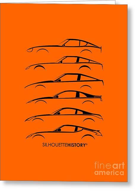 Zee Car Silhouettehistory Greeting Card by Gabor Vida