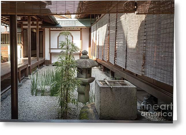 Zen Garden, Kyoto Japan Greeting Card