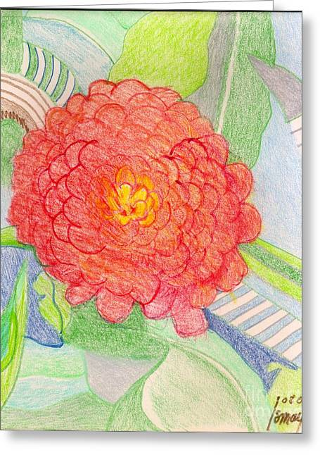 Zinnia  Greeting Card by Rod Ismay