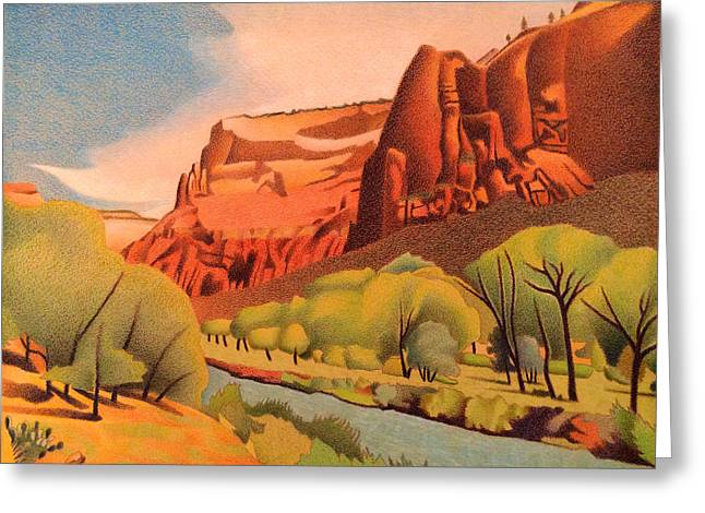 Zion Canyon Greeting Card by Dan Miller