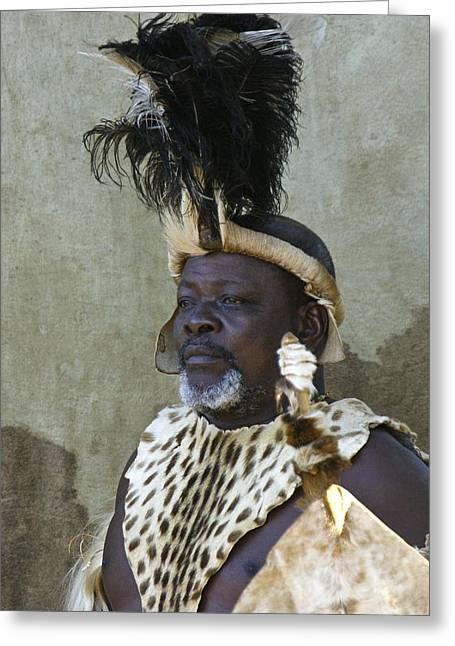 Zulu Dignity Greeting Card by Michele Burgess