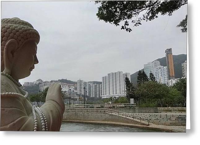 #香港 #hongkong Greeting Card by Takaharu Nakamoto