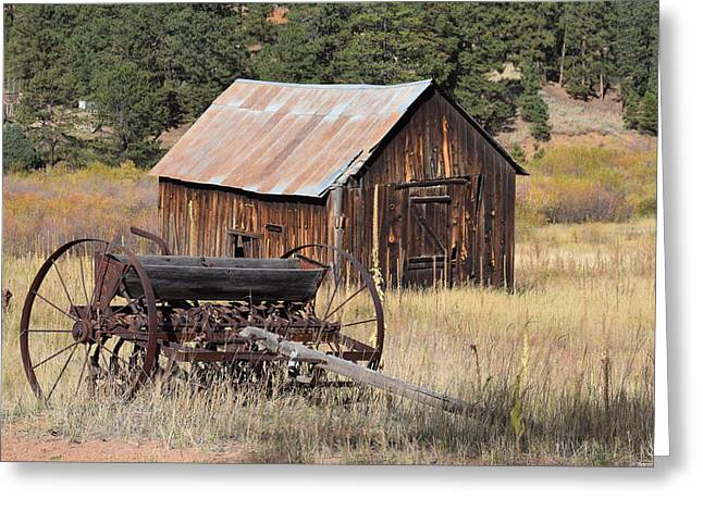 Seed Tiller - Barn Westcliffe Co Greeting Card