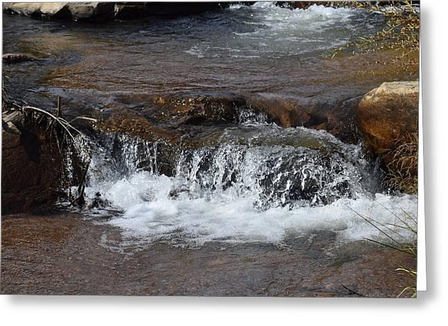 Waterfall Westcliffe Co Greeting Card