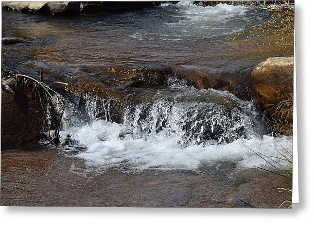 Waterfall Westcliffe Co Greeting Card