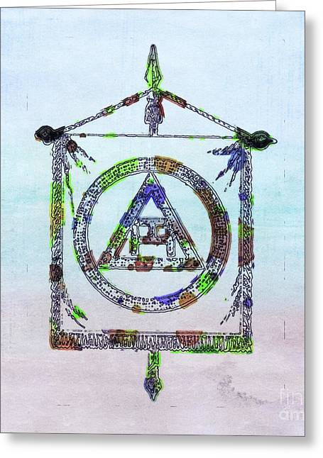 Ancient Freemasonic Symbolism By Pierre Blanchard Greeting Card