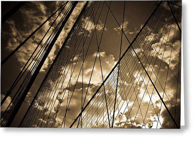 Brooklyn Bridge Greeting Card by Patrick  Flynn