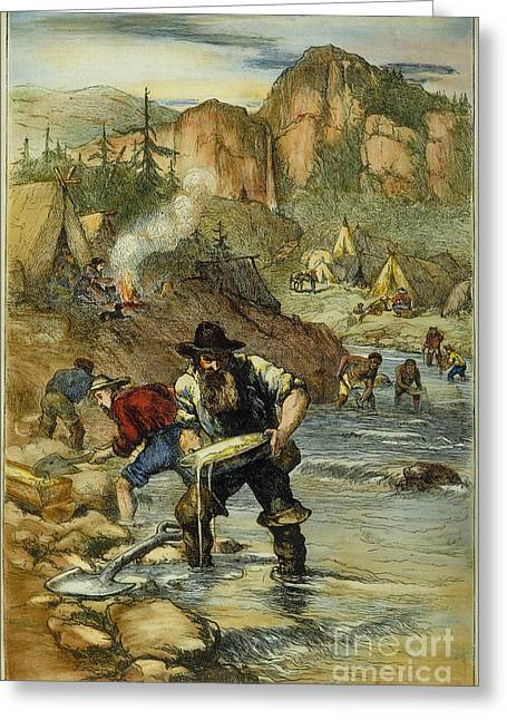 California Gold Rush Greeting Card by Granger