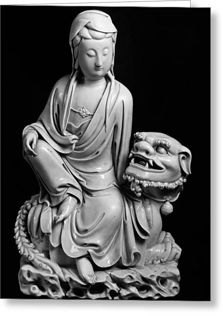 China: Bodhisattva Greeting Card